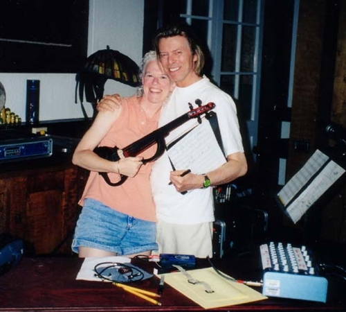 Recording with David Bowie