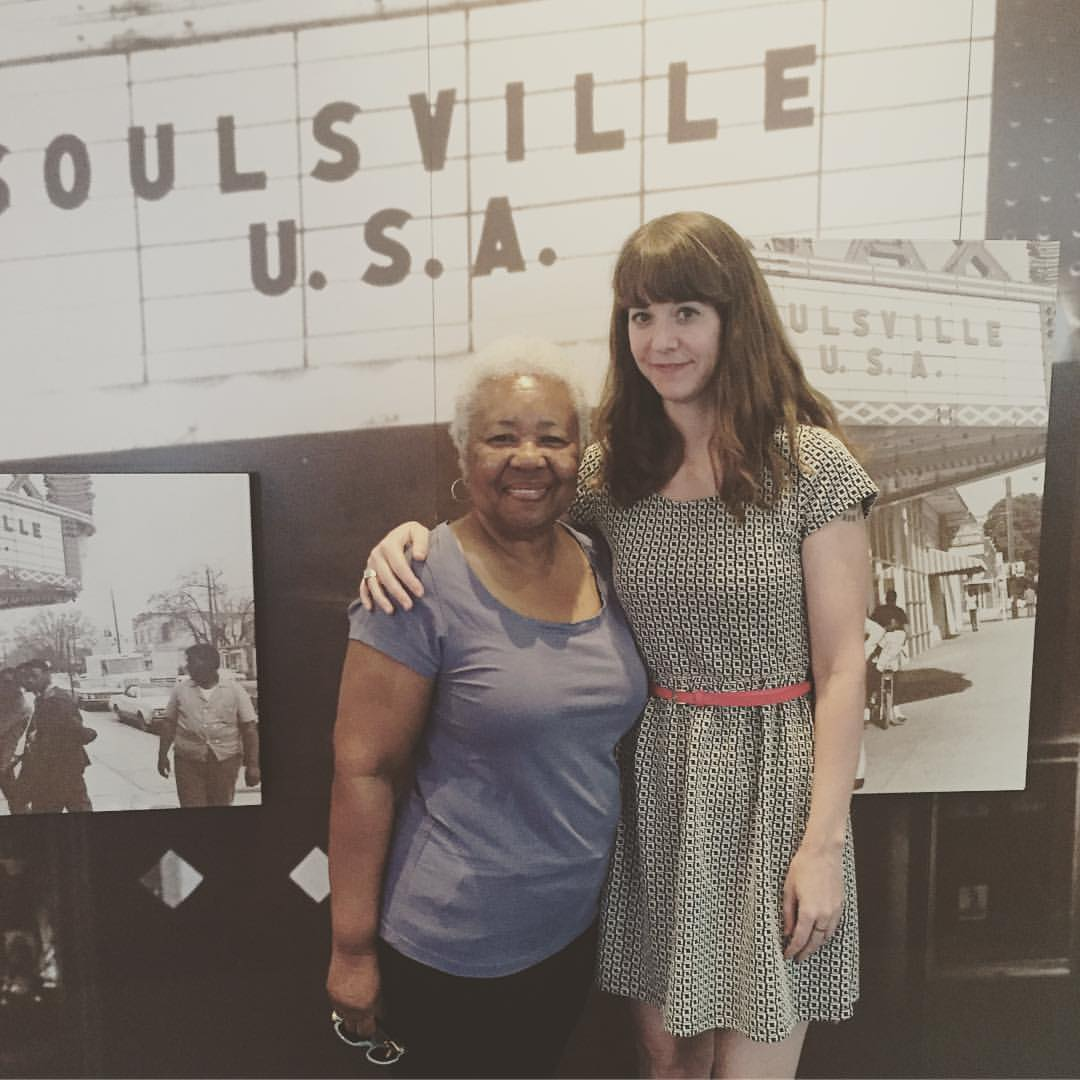 Maggie with Deanie Parker of Stax