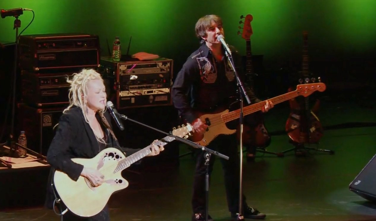 William and Cyndi on stage