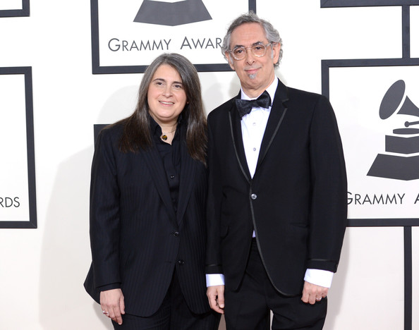 Producers Teri Landi and Steve Rosenthal attend the 56th GRAMMY Awards