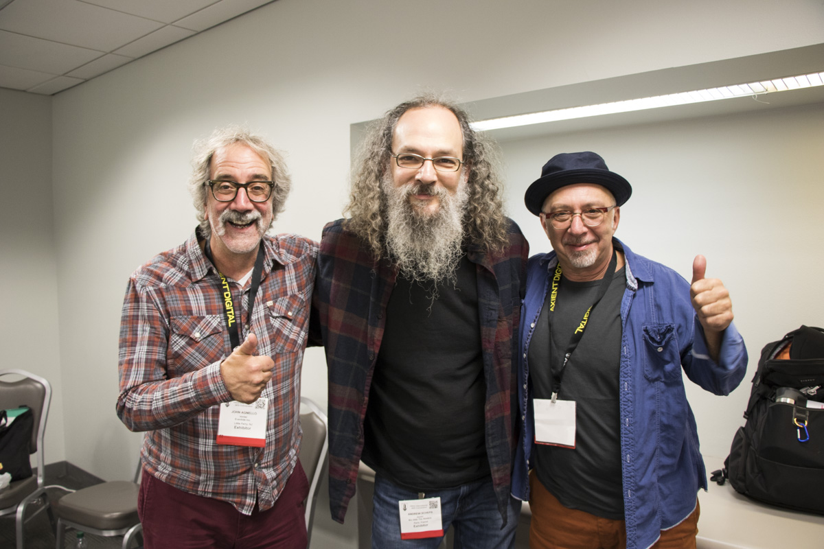 Andrew with John and Stewart at AES