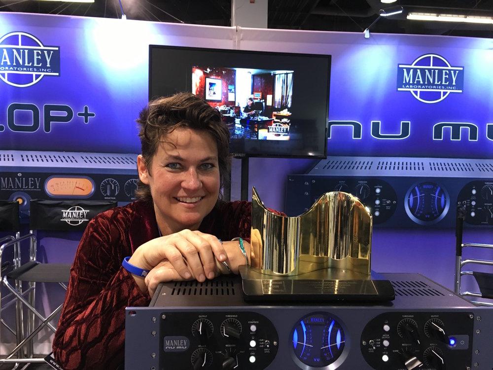 Manley at the 2016 NAMM Tec Awards