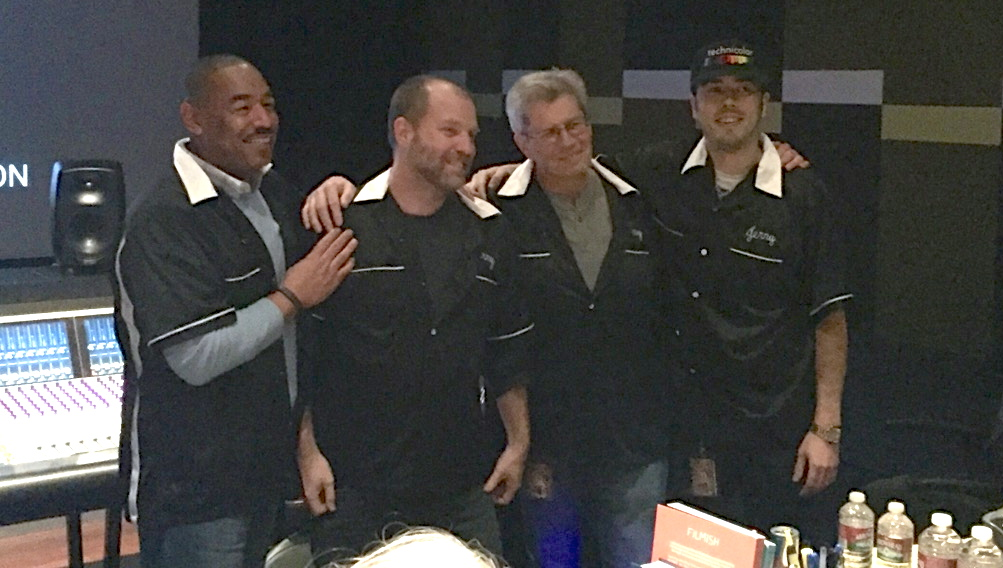 Rod with the mix crew of 'Grace and Frankie'