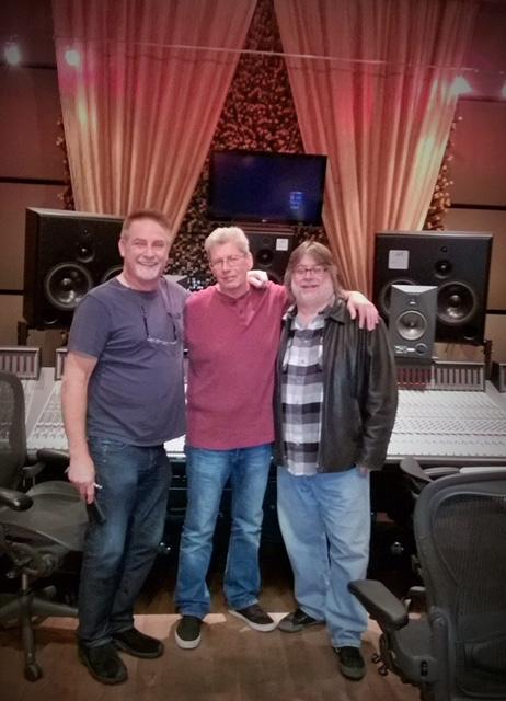 Rob at Blackbird Studio in Nashville with John McBride & Steve Marcantonio (from RPS)