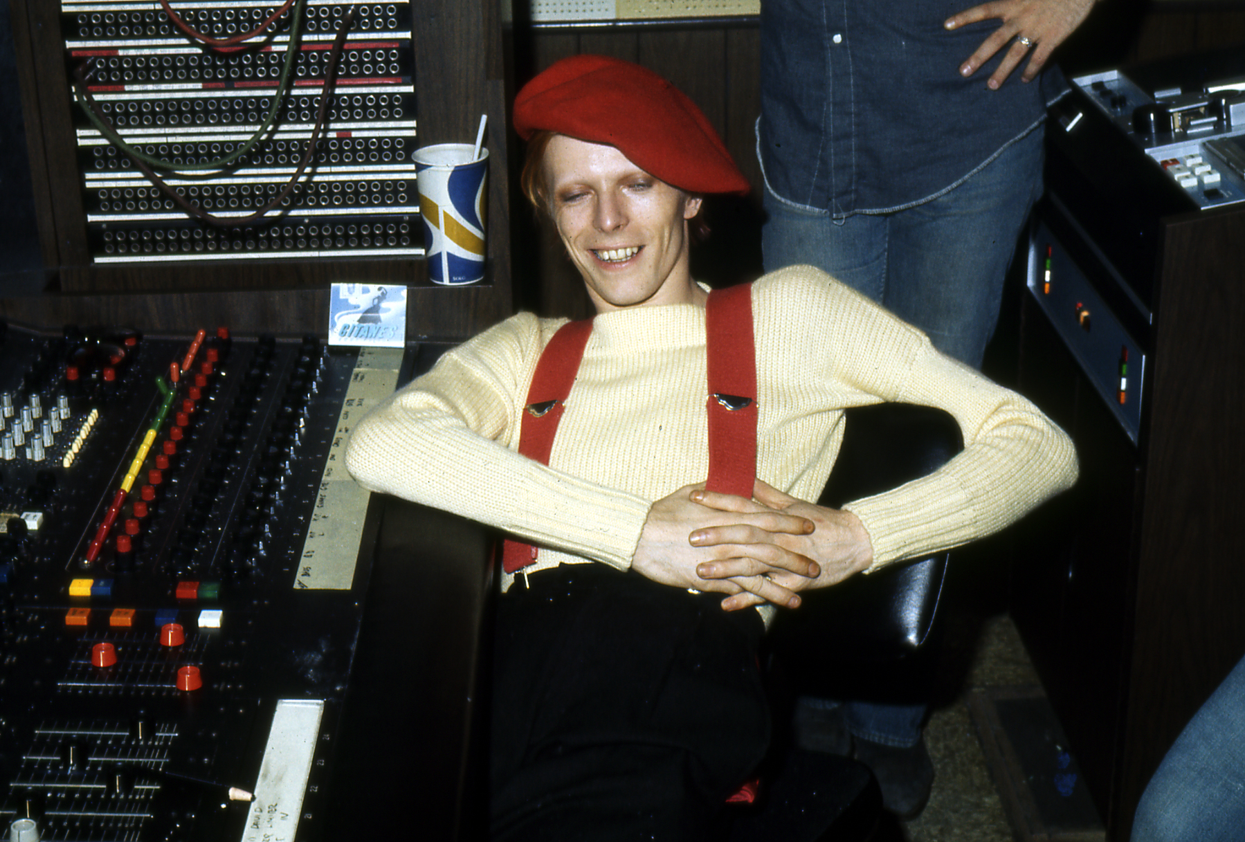 David Bowie during the recording of Young Americans, Sigma Sound