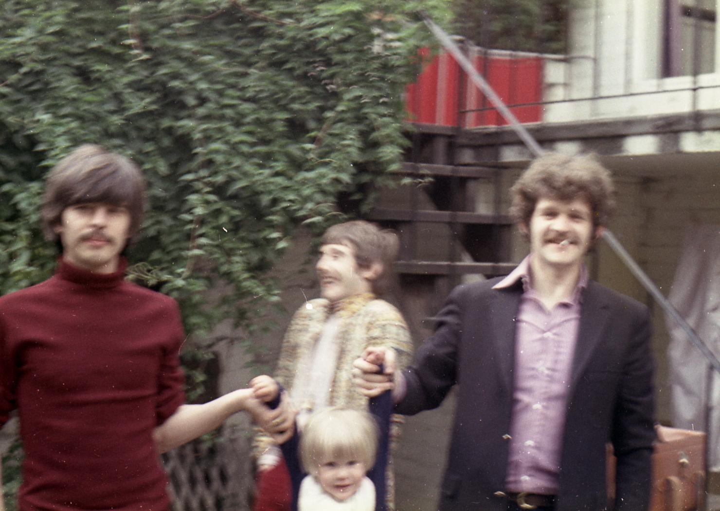 Tony, Denny Laine of The Moody Blues and Denny Cordell, Tony's mentor.