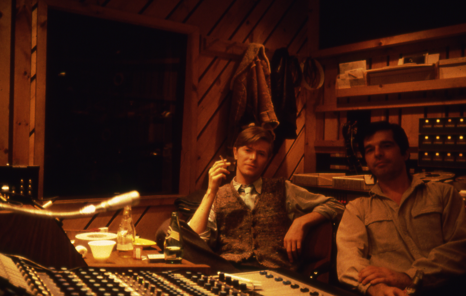 David Bowie and Tony Visconti recording the Scary Monsters album in The Power Station, NYC, 1979