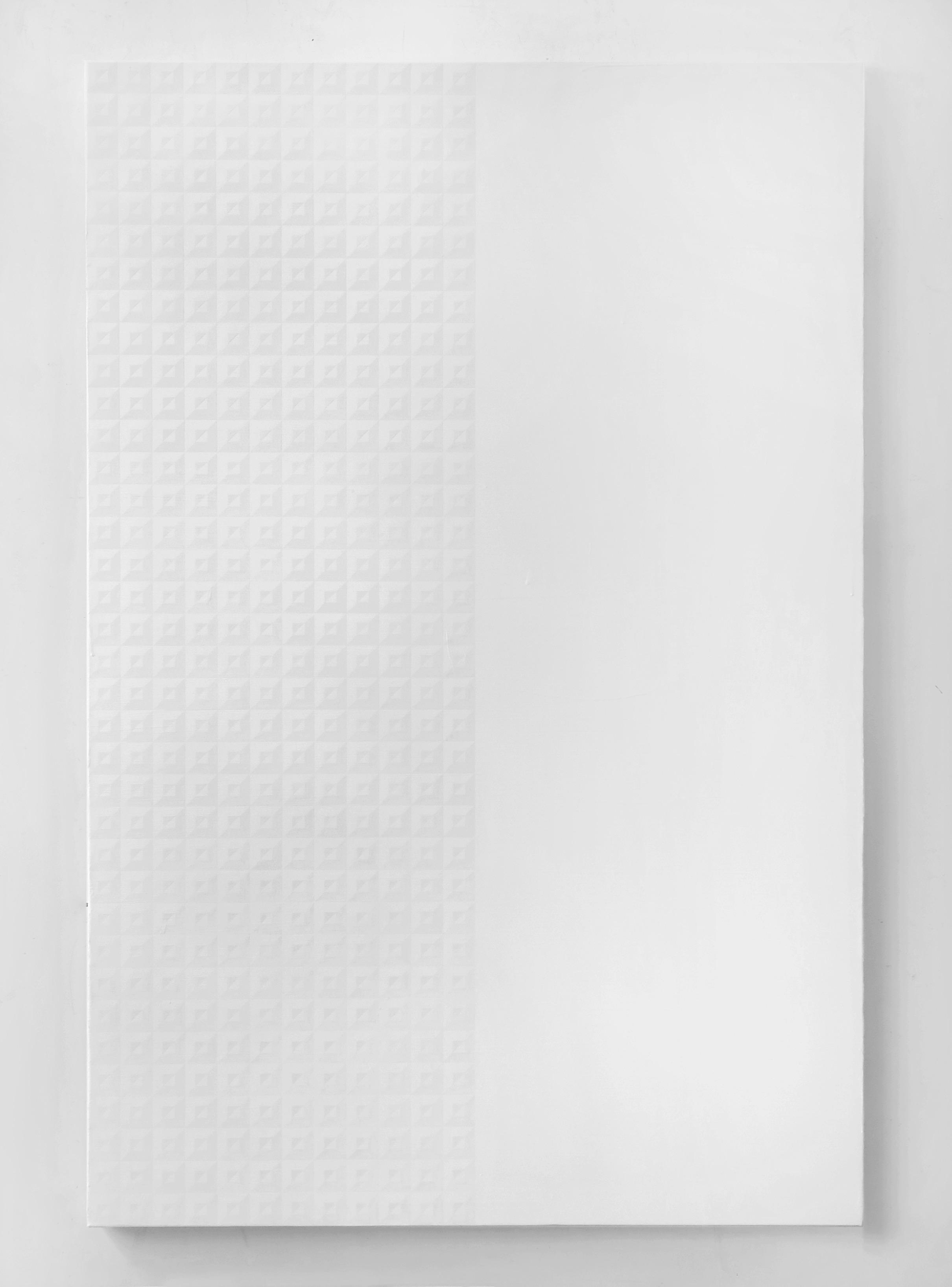 Matt Mignanelli  Titan , 2014 Gloss and matte enamel on canvas, 72 x 48 inches