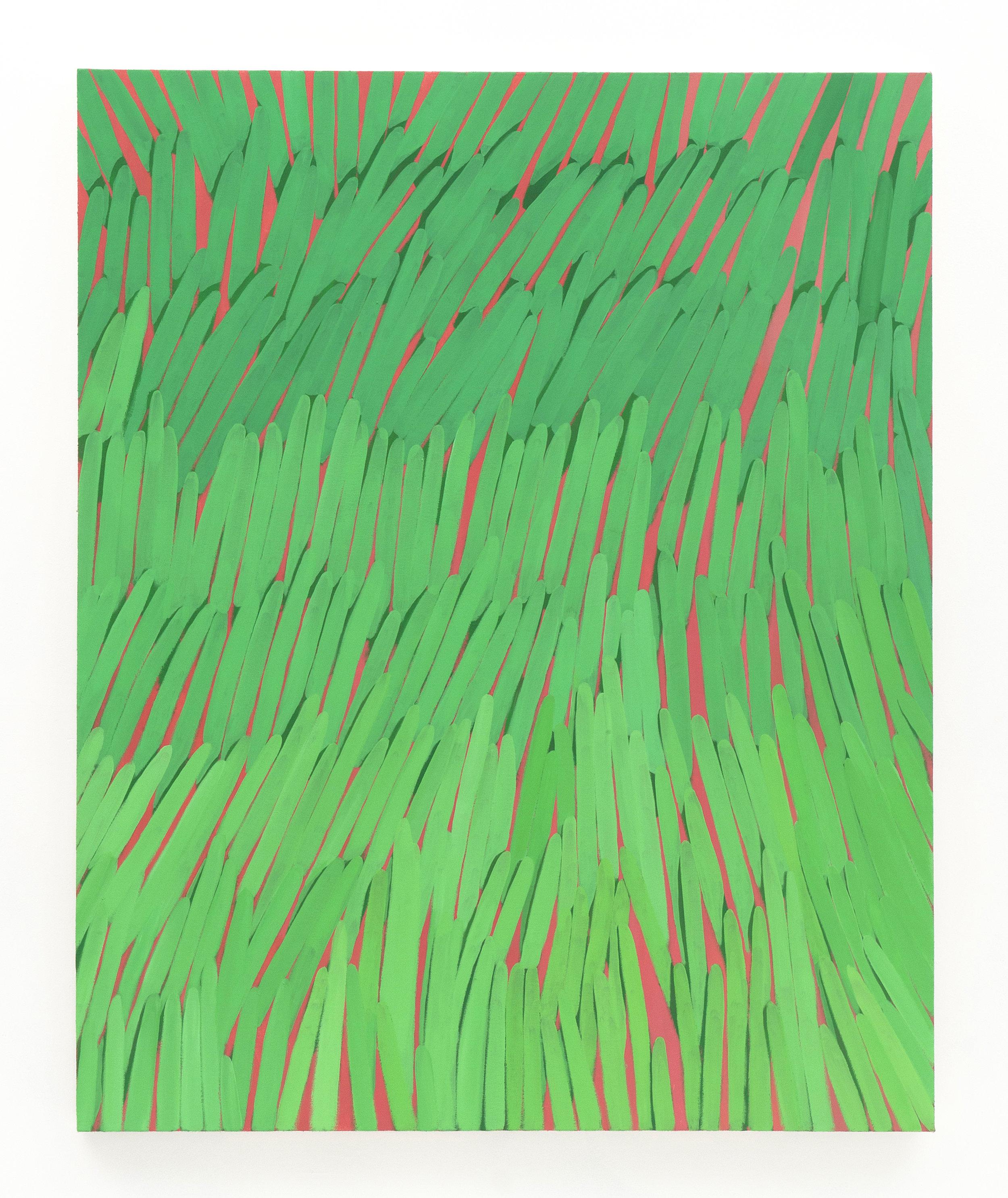 "Corydon Cowansage  Grass #43, 2015 acrylic on canvas, 50 x 40"""