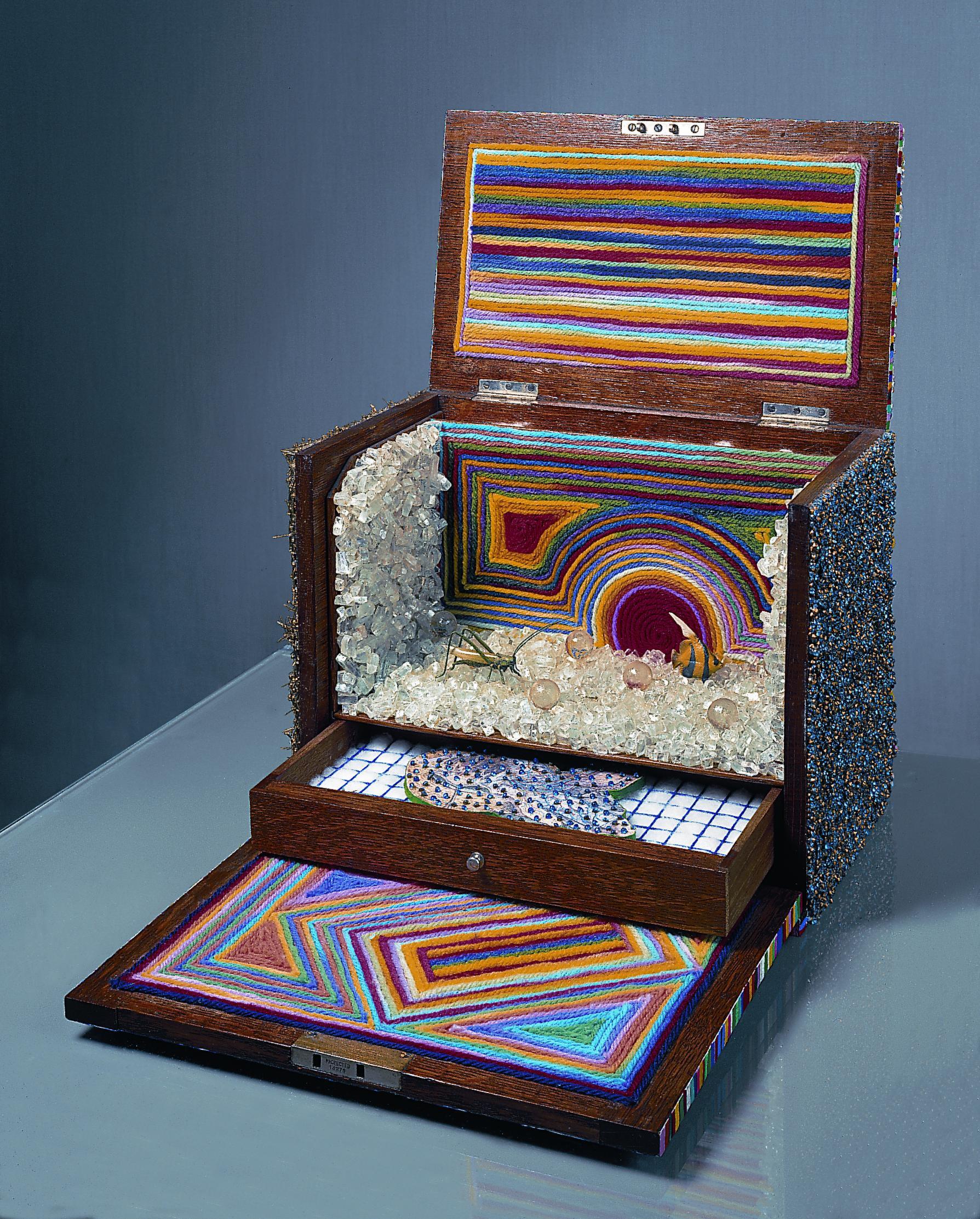 Lucas Samaras   Box #90 , 1974 Mixed media, 14 1/2 x 15 3/4 inches SOLD