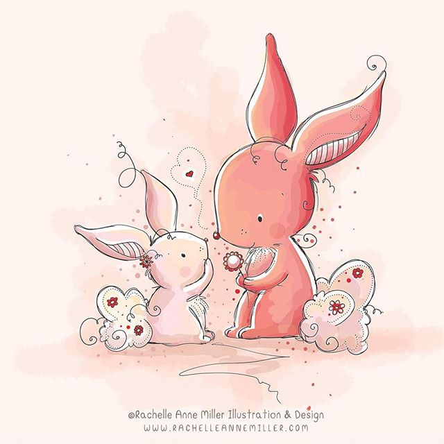 Happy Easter! . . . .  #childrensart #childrensillustration #illustration #watercolorart #rachelleannemiller #rachelleannemillerart #childrensartist #digitalart #childrensillustrators #childrensillustrator #illustratorsoninstagram #digitalart #creativemarket