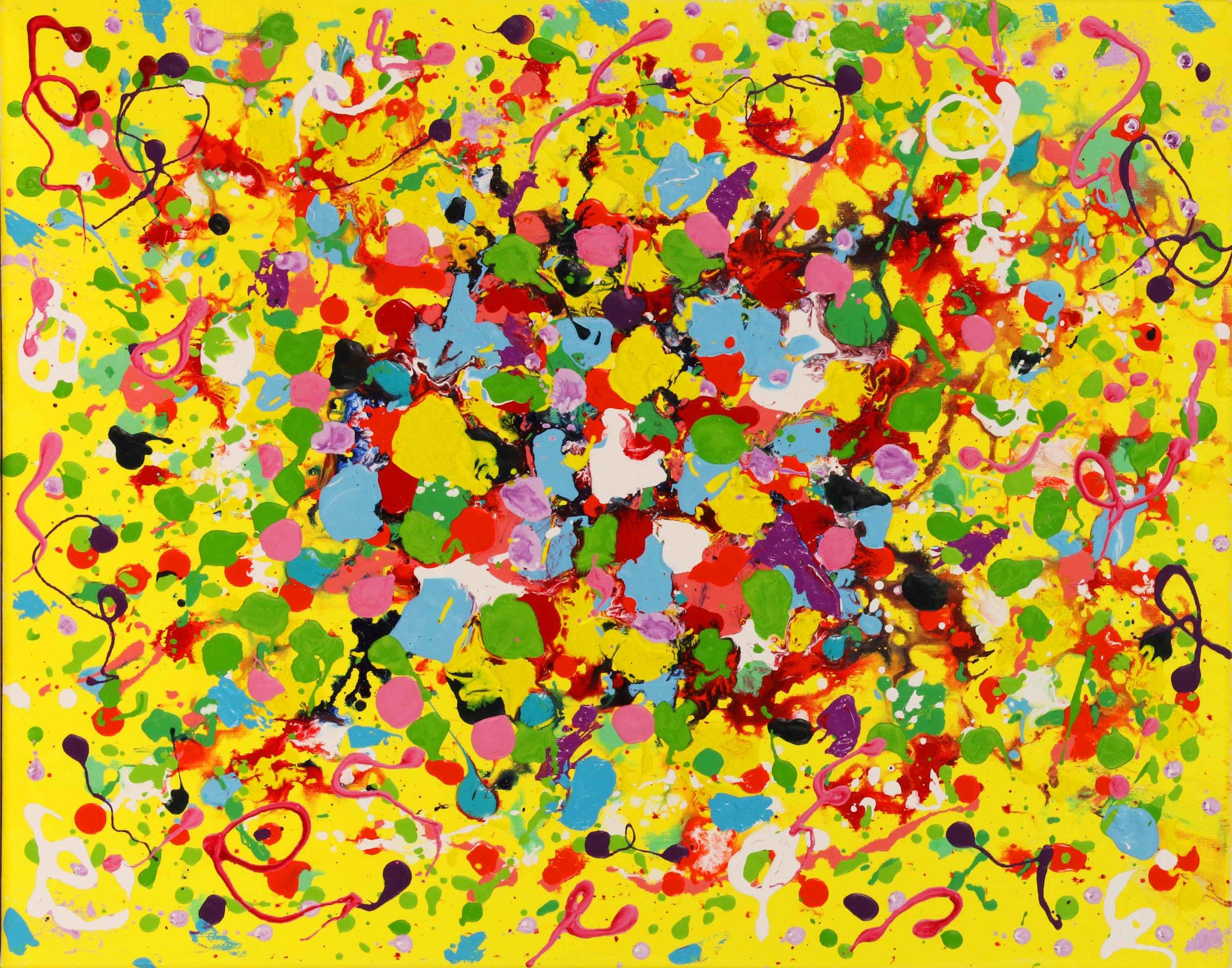"""Bubblegum Bloom 20""""H x 16""""W x .75""""D"""
