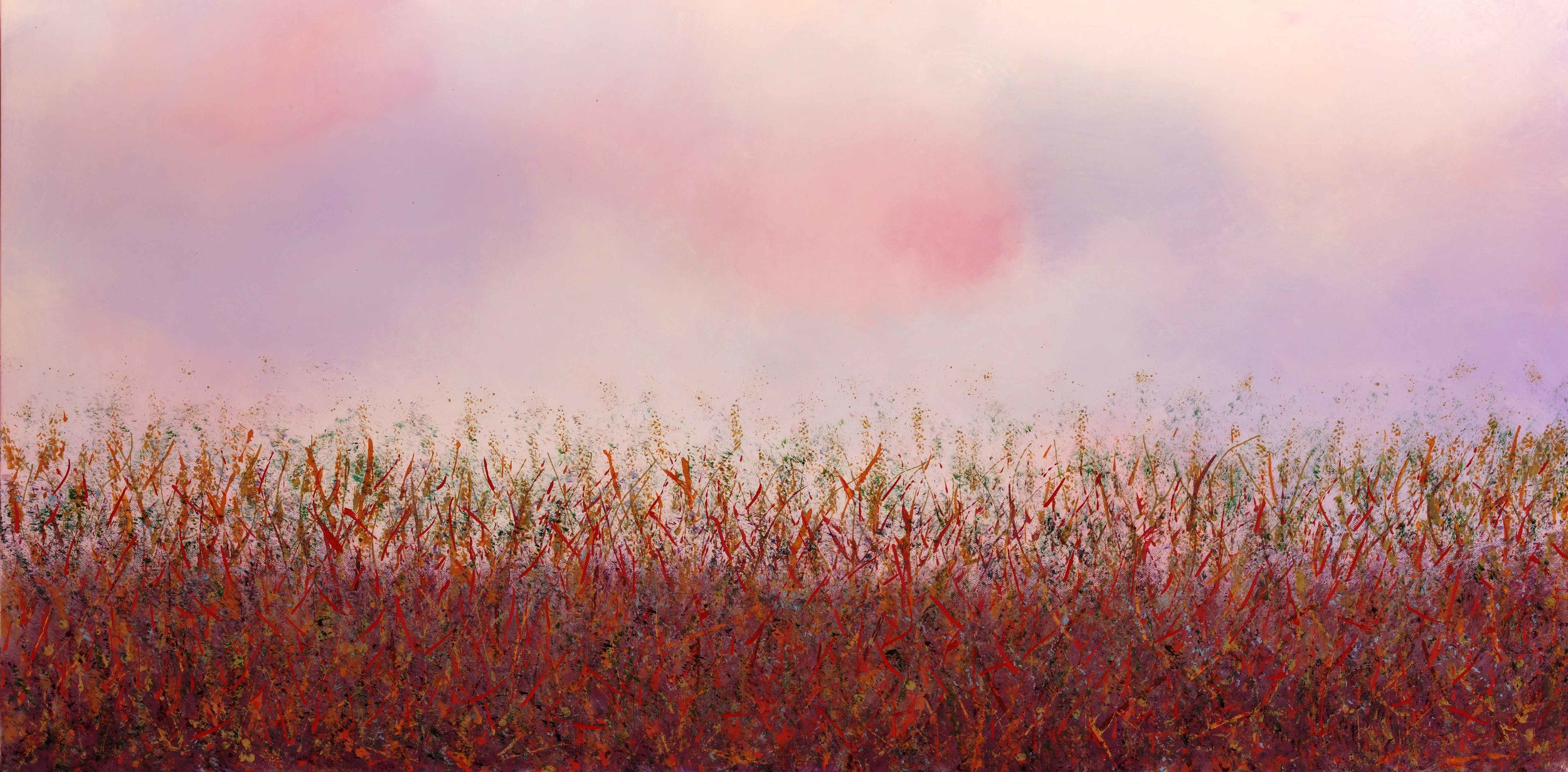 "Fields of Crimson 24""H x 48""W x 1.5""D"