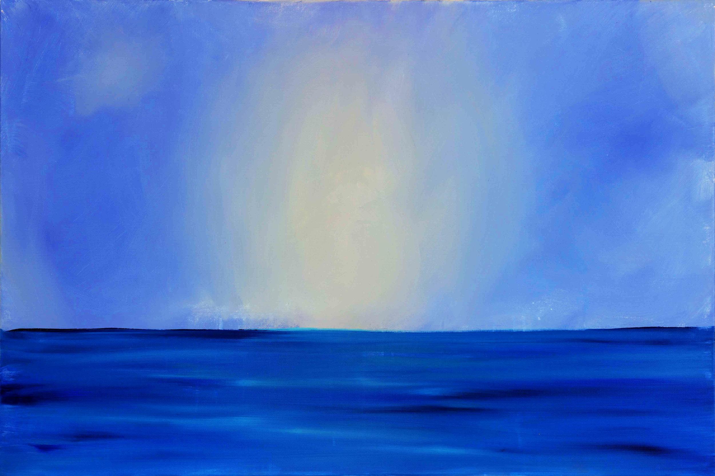 "Blue Beyond 36""H x 24""W x .75""D"