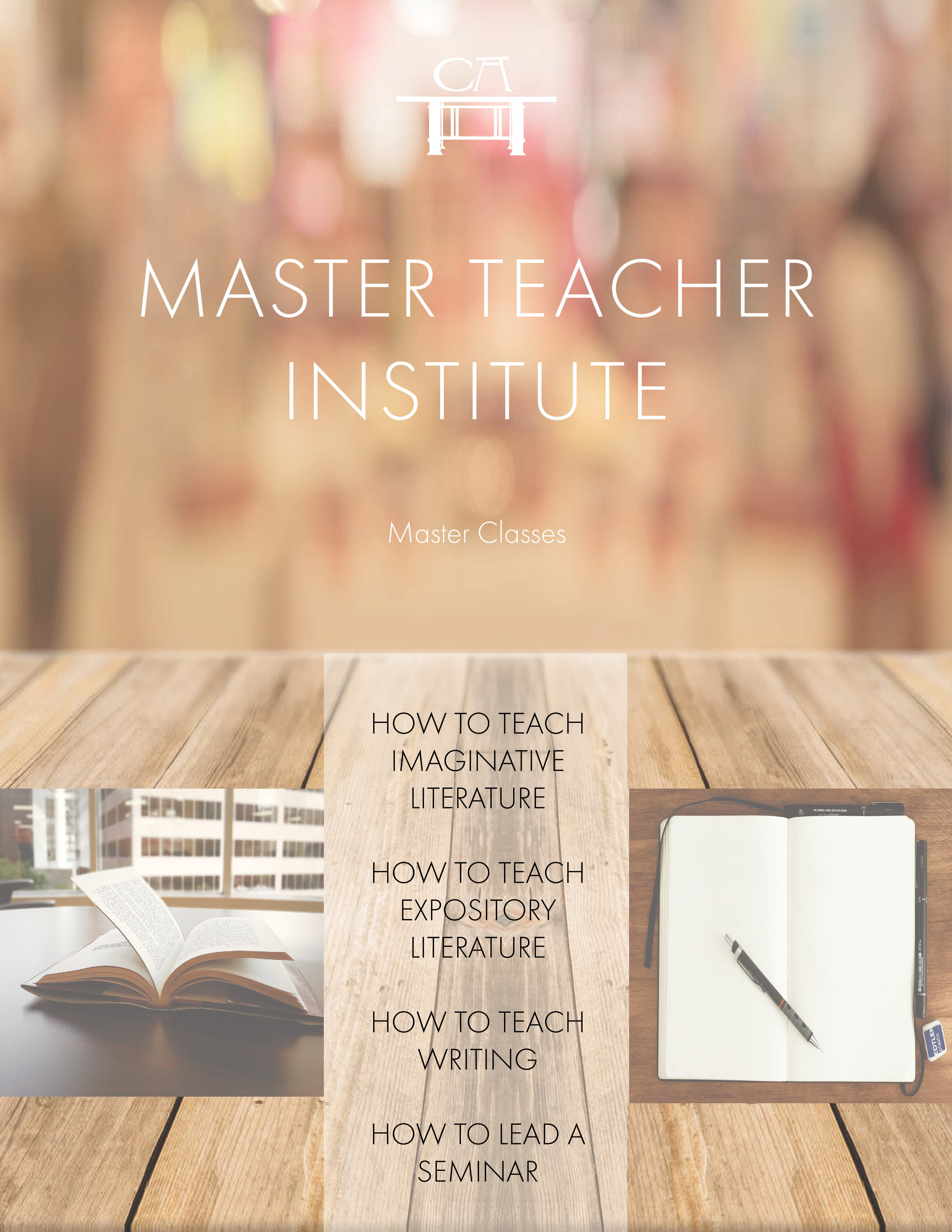 Master Teacher Institute Courses - Go for the gold at our Master Teacher Institute. Our courses on how to teach essential skills and essential works are the gold standard. Discounted for any level of membership. $400-$2000
