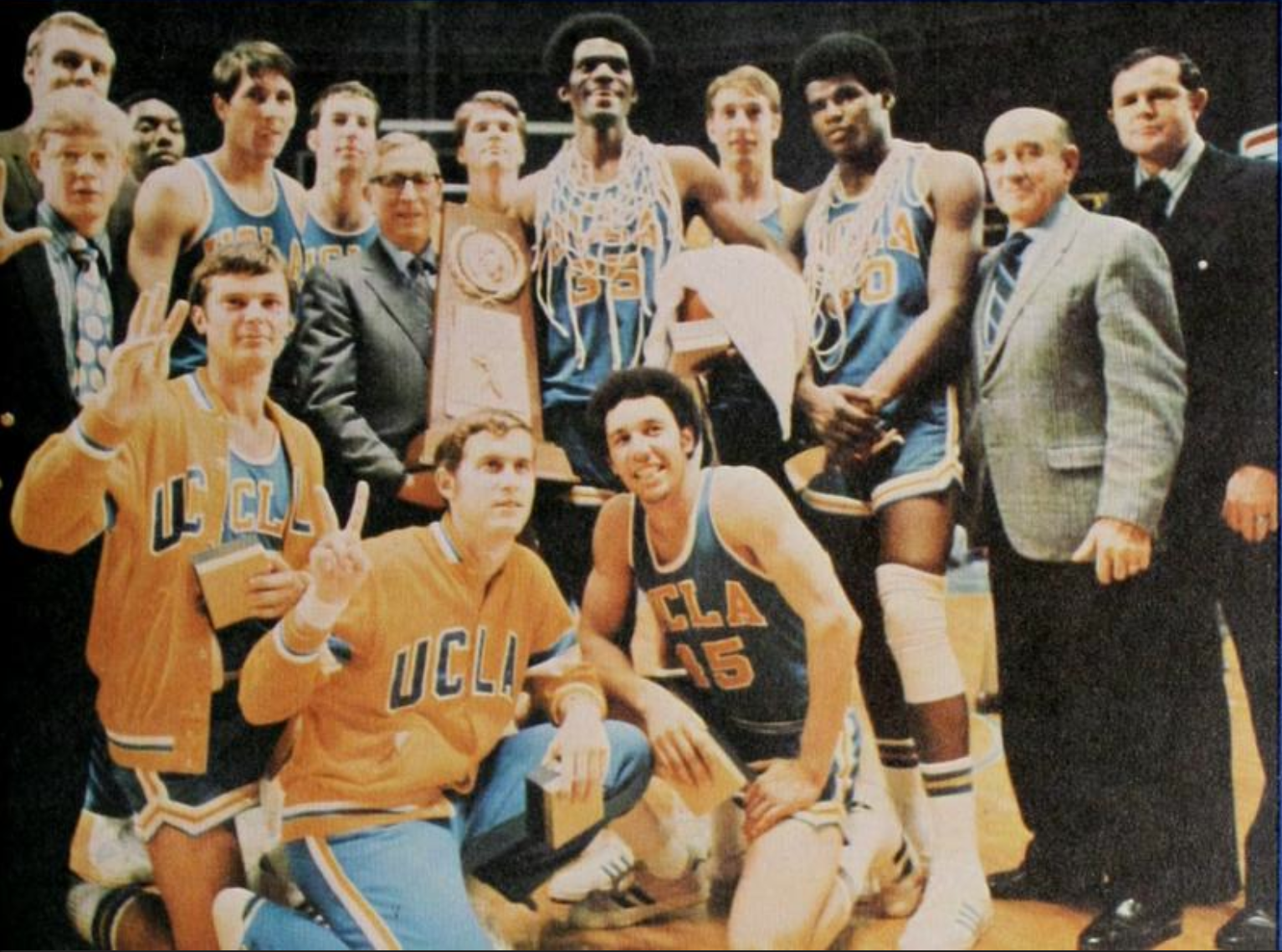 UCLA after the 1971 NCAA Championship