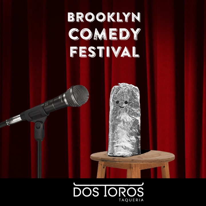 "Did we mention that this weekend our partners at  Dos Toros Taqueria   on Bedford Ave are offering BKCF attendees a free Tecate, Jarritos, or  bottled water if you use a guacamole, burrito, or Dos Toros related pun  when ordering?! So tell them to ""guac it out,"" to ""roll you a fattie  burrito,"" or that you have ""99 tacos but a fish ain't one."" Creativity  is encouraged, and if they like what you come up with, they may Tweet  it! (Offer good Friday, Saturday, and Sunday at the 189 Bedford Ave location only.)"