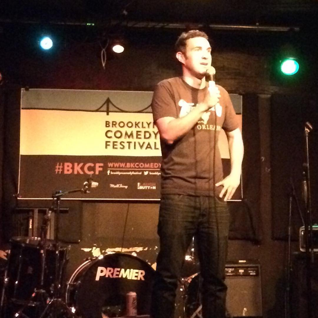 @marknormand at #BKCF edition of #BrokenComedy tonight! (at Bar Matchless)
