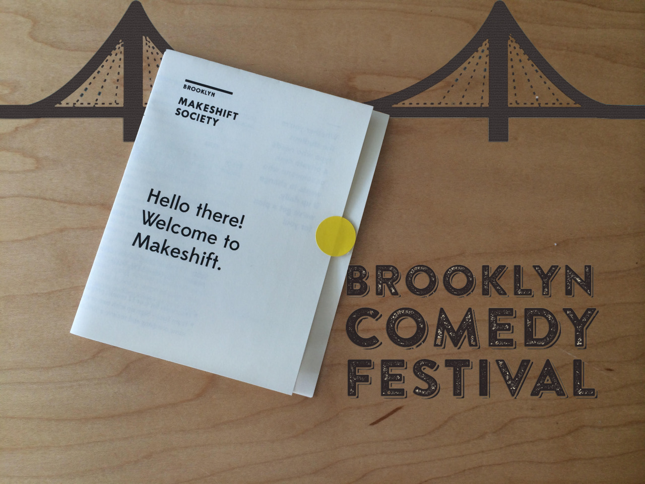 Enjoying our new space at Makeshift Society Brooklyn and looking forward to some exciting announcements this week before we head off the Outside Land's The Barbary Comedy and Improv tent in San Francisco this weekend!
