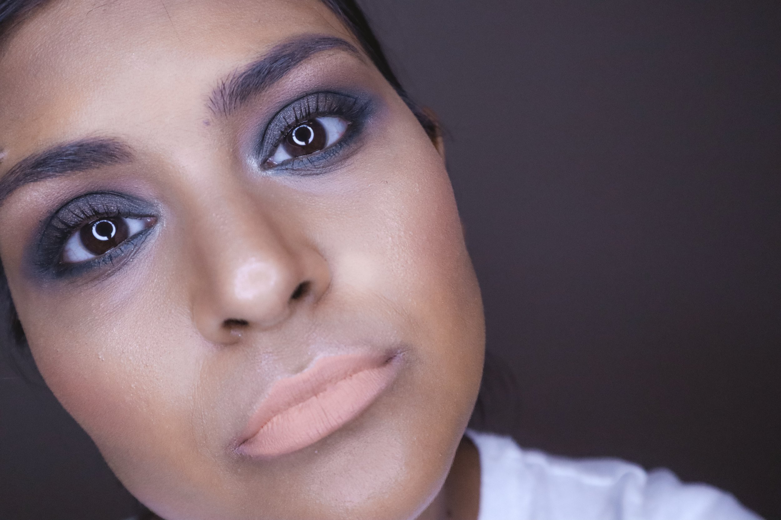 fall blue makeup inspired look