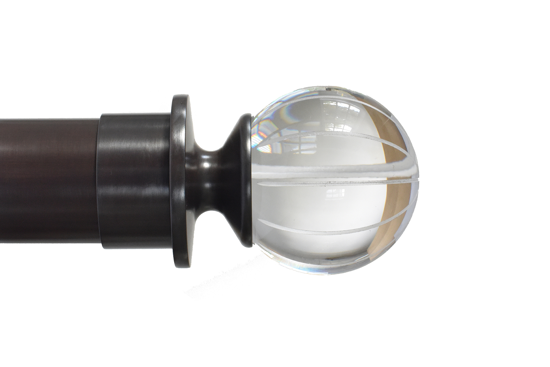 FLUTED ACRYLIC PEARDROP FINIAL