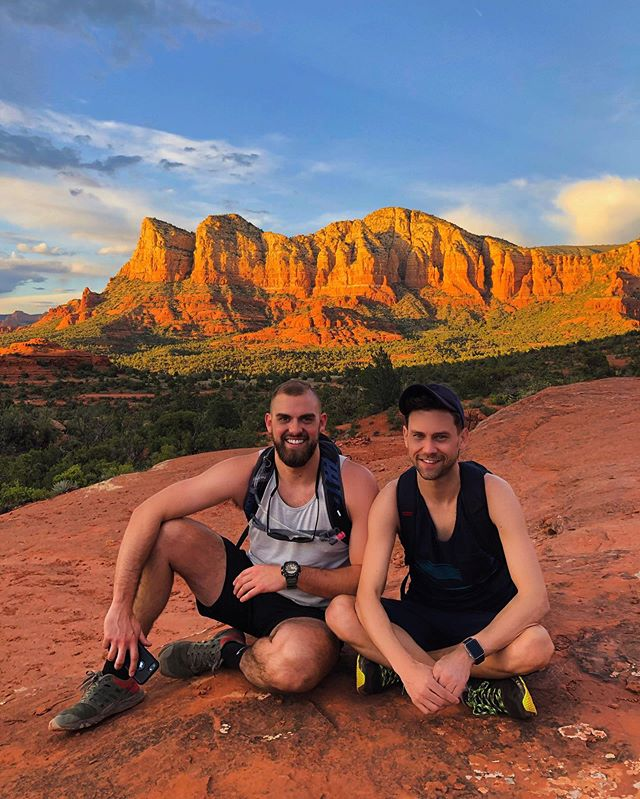 #fbf to our sunset hike up #bellrock trail in Sedona, AZ with @_tloper • • • • • • • • • • • • • • • • • • • • • #vacation #springbreak #sedona #hiking #redrocks #sedonaarizona #arizona #hike #love #naturephotography #mountain #rocks #photography #photooftheday #photographer #photo #potd #bellrock #hike #hiker #hikearizona #hikesedona #hikes #hikers #sunset #sunsets