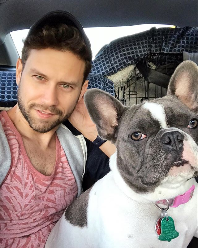 #roadtrip NYC to Glen Arbor, Michigan. 🚗 🚙 • • • • • • • • • • • • • • • • • • • • • • #car #vacation #frenchie #selfie #carselfie #carselfies #dog #puppy #frenchies #frenchiesofinstagram