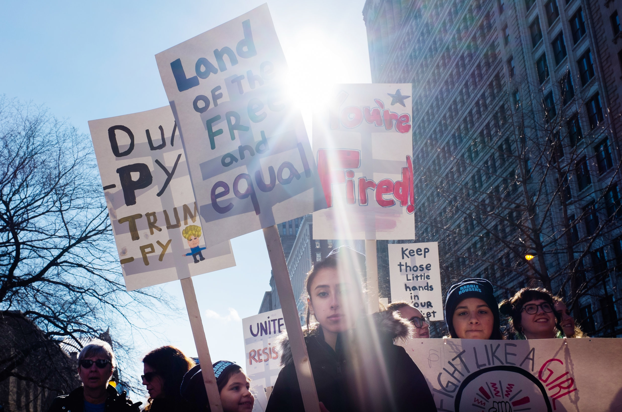 An estimated 250,000 protesters marched at the Chicago Women's March, Jan. 21. (Photo/Sebastián Hidalgo)