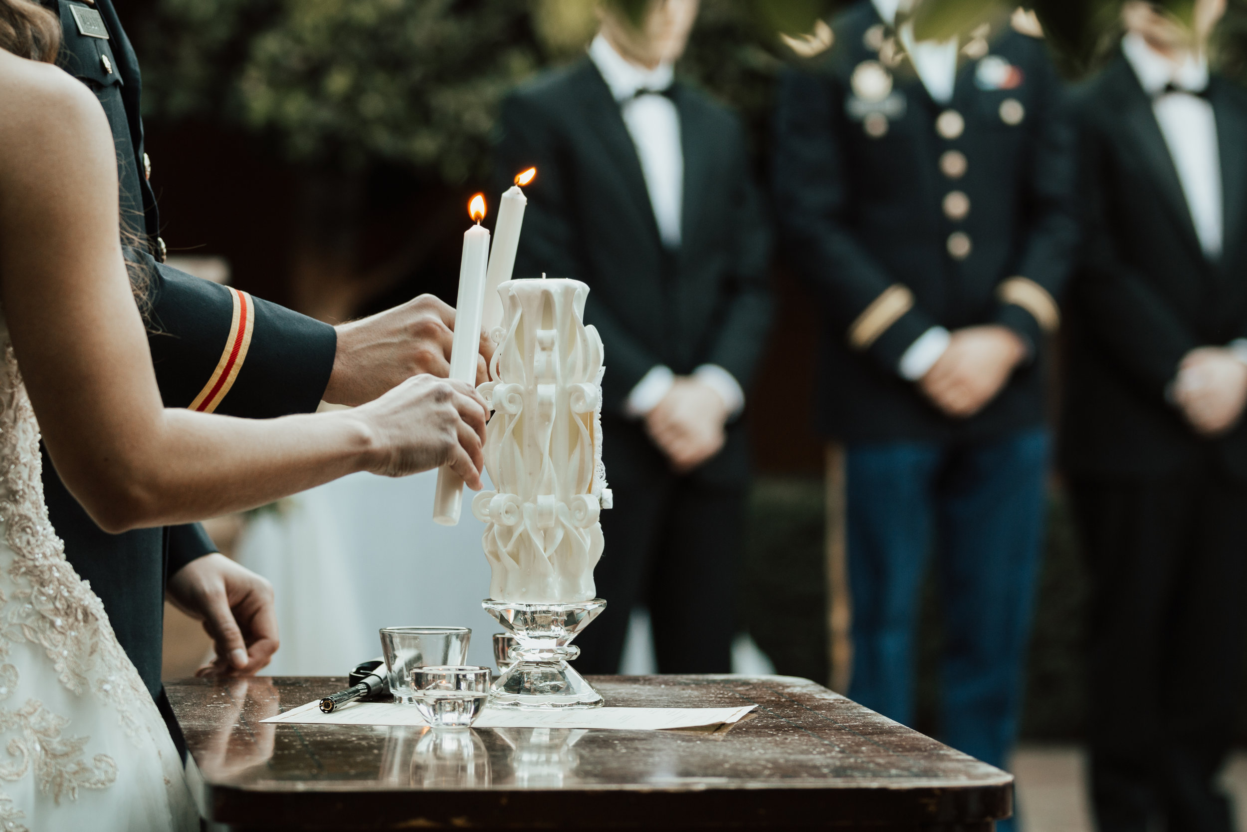Candle Lighting during Ceremony