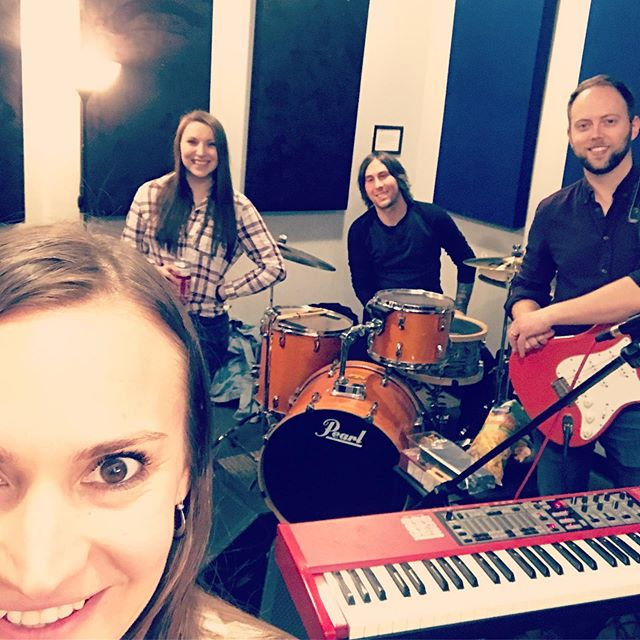 Am I way too excited for our show @thewaystation Saturday, October 12 with these people? Absolutely. #badatselfies #igiveupimpostingitanyway #bandpractice #brooklynmusician #musician #musicianslife #tooexcited #bandpic #singersongwriter #singer #thewaystation @evajeanne @bigbossbox @ebaggertenor @theatreoftheugly