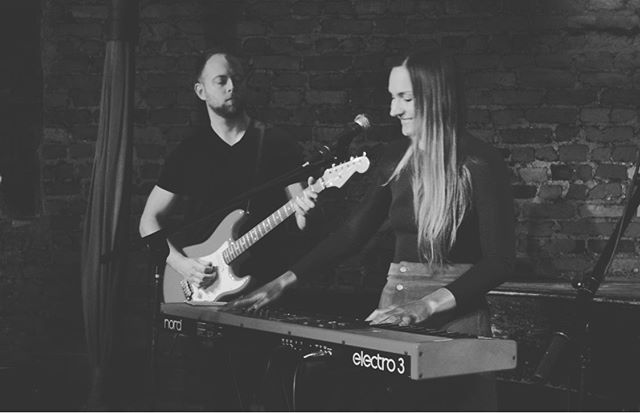 Our show @thewaystation is in 8 days! #countdown #blackandwhitephotography #loveofmylife #singersongwriter #singer #musicians #musician #musicislife #musiciancouple #band #rockwoodmusichall #musicianlife #brooklynmusician #nord #nordkeyboard #fenderstratocaster @ebaggertenor