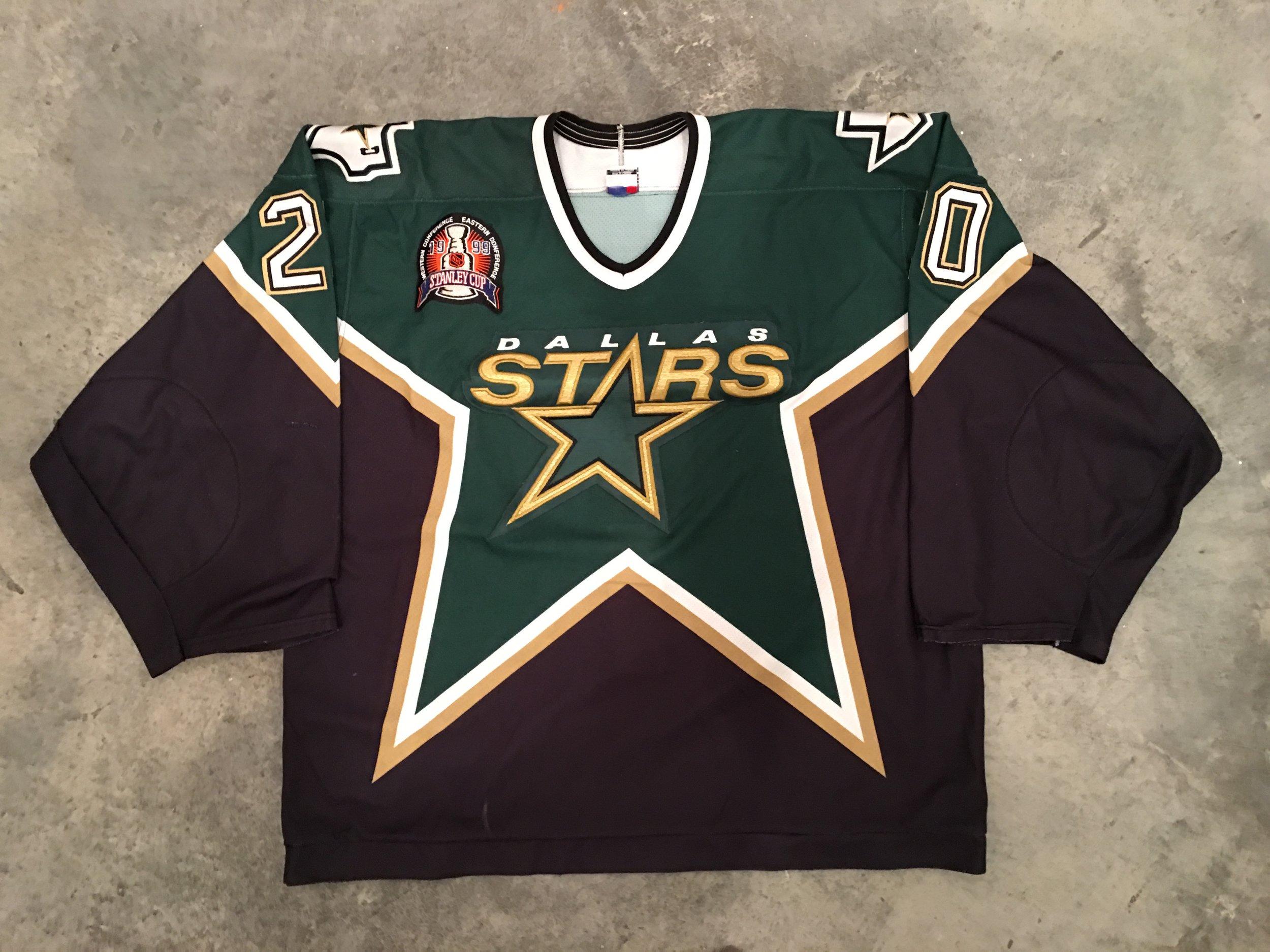 1999 Dallas Starts Stanley Cup Finals Game Worn Road Jersey - Ed Belfour