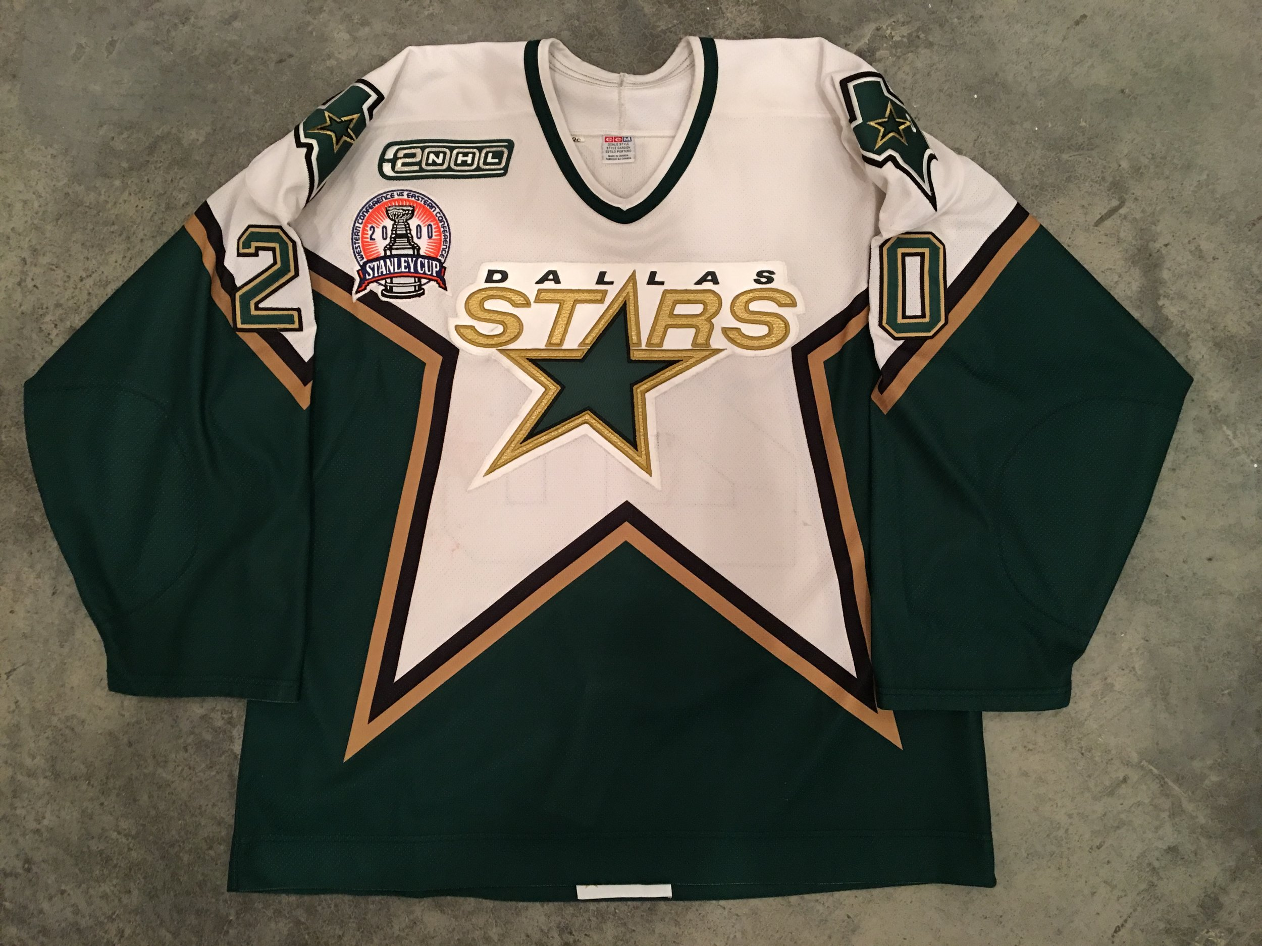 2000 Dallas Starts Stanley Cup Finals Game Worn Road Jersey - Ed Belfour