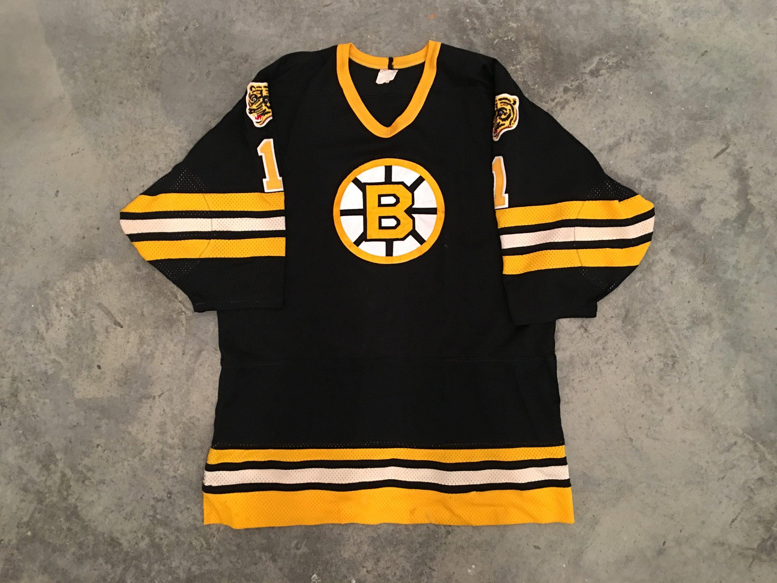 Pete Peeters Boston Bruins Game Worn Jersey - 1983 Vezina Winner