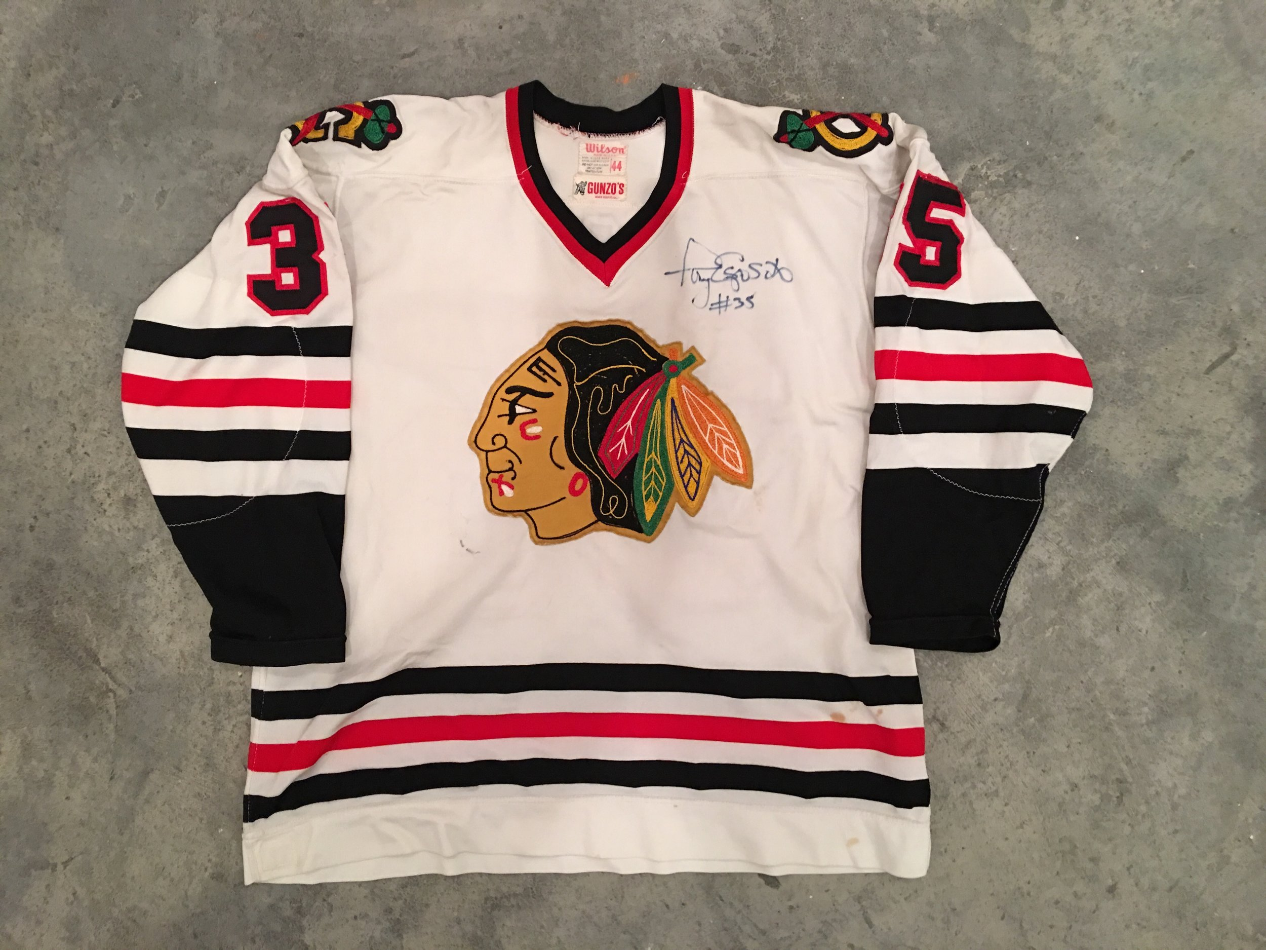 Tony Esposito Chicago Blackhawks Game Worn Jersey - 1970, 1972 & 1974 Vezina Winner