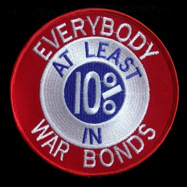 WANTED - The Red Wings wore this patch to call their fans and citizens of Detroit buying war bonds to raise money for the Second World War, from 1942-1945.