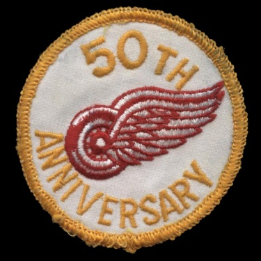 WANTED - Redwings 50th anniversary patched jersey worn during the 1975-76 season.