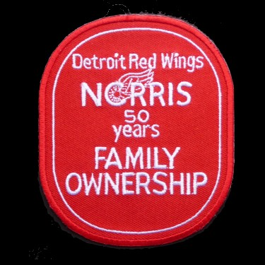 WANTED - Norris Family 50 years of ownership patch worn during teh 1981-82 season.