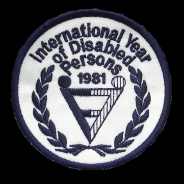 WANTED - International Year of the Disabled Person patch worn during teh 1981-82 season.