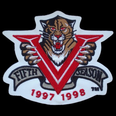 WANTED - Panthers 5th anniversary patch worn during the 1997-98 season