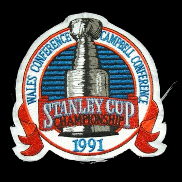 WANTED - 1991 Stanley Cup Finals patched jersey