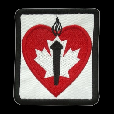 WANTED - Heart & Stroke Foundation patch worn during the 1986-87 Season