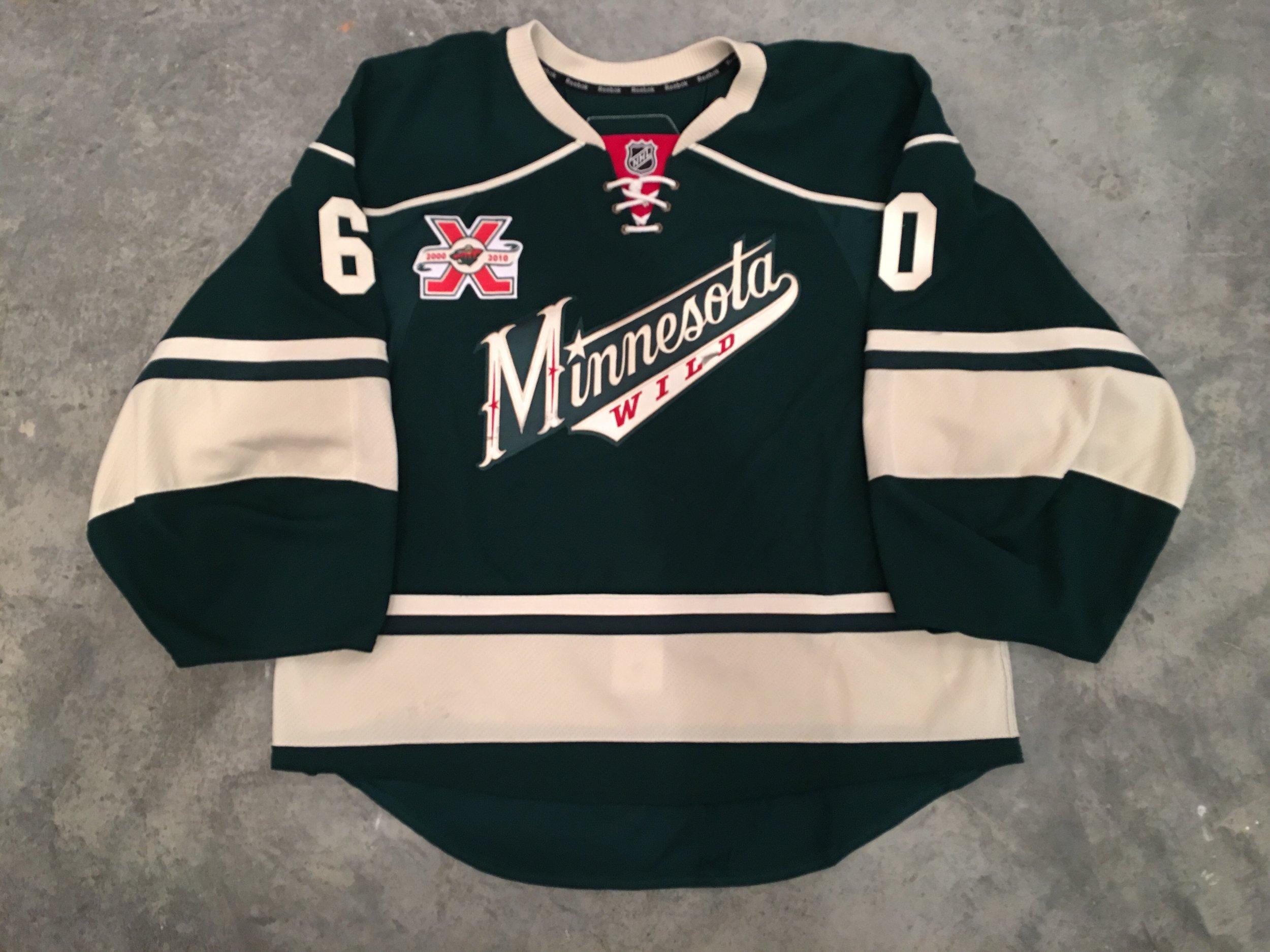 Jose Theodore Minnesota Wild Game Worn Jersey - 2002 Vezina Winner