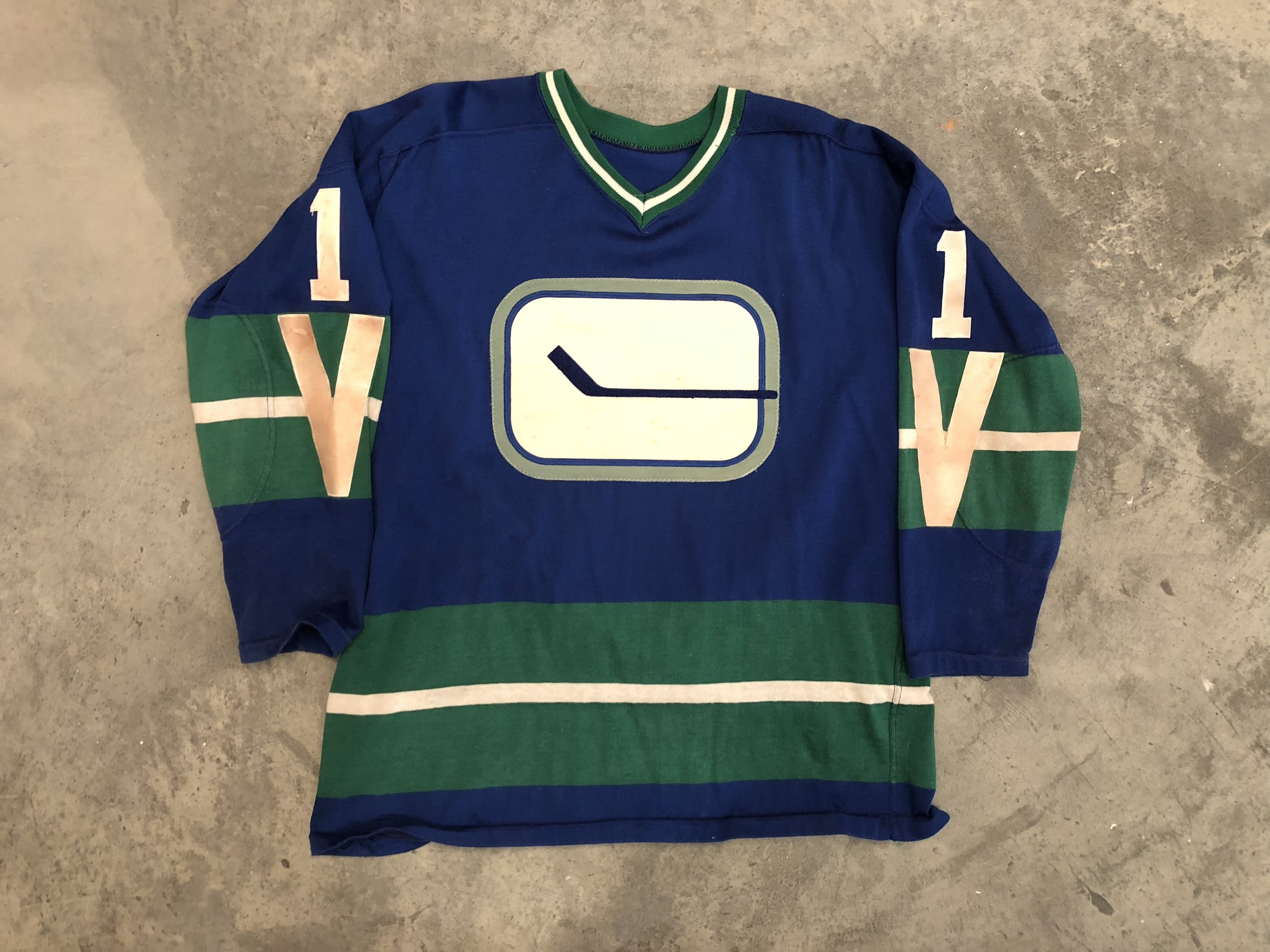 Charlie Hodge Vancouver Canucks Game Worn Jersey - 1964 & 1966 Vezina Winner