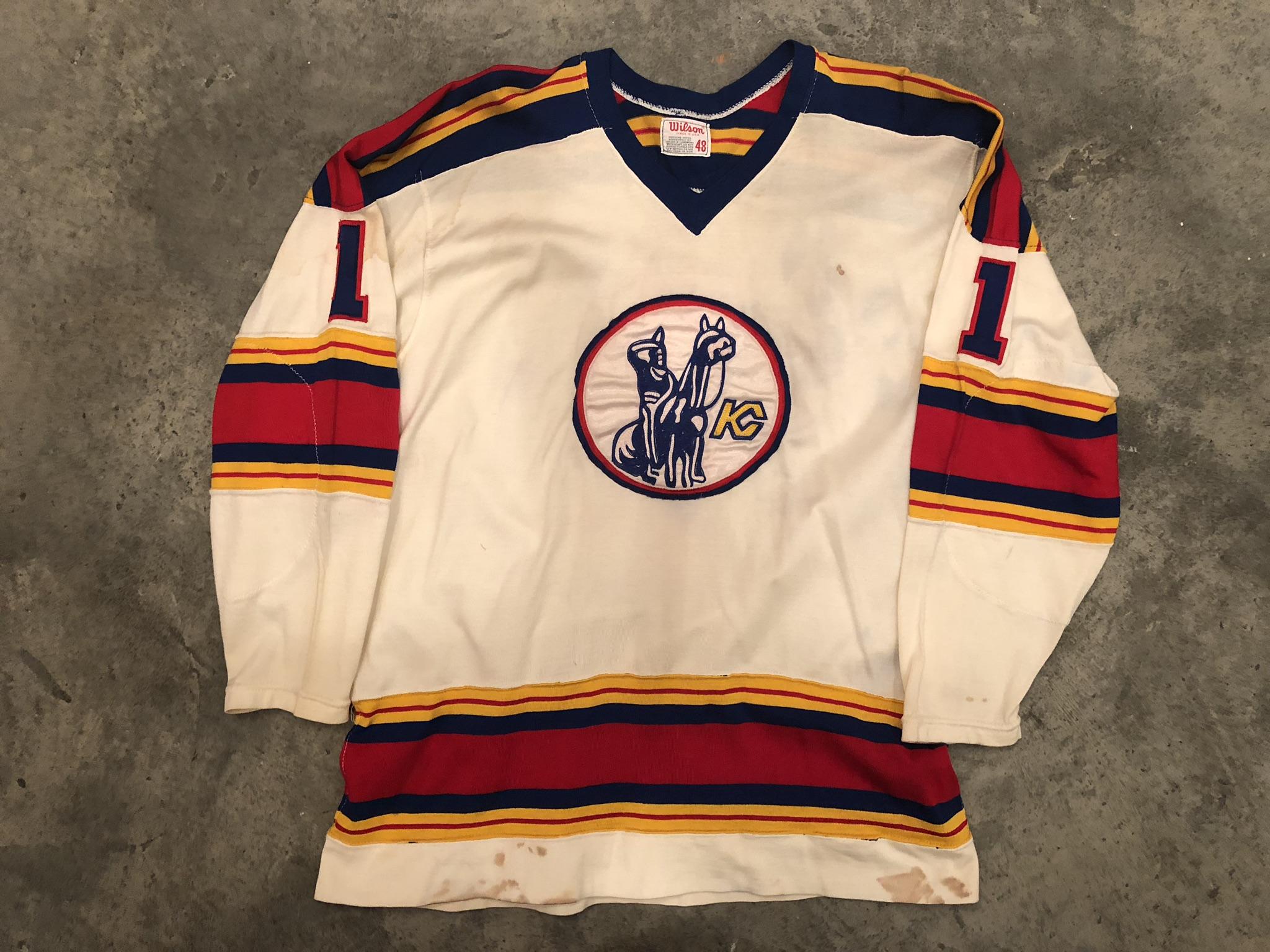 Denis Heron Kansas CIty Scouts Game Worn Jersey - 1981 Vezina Winer