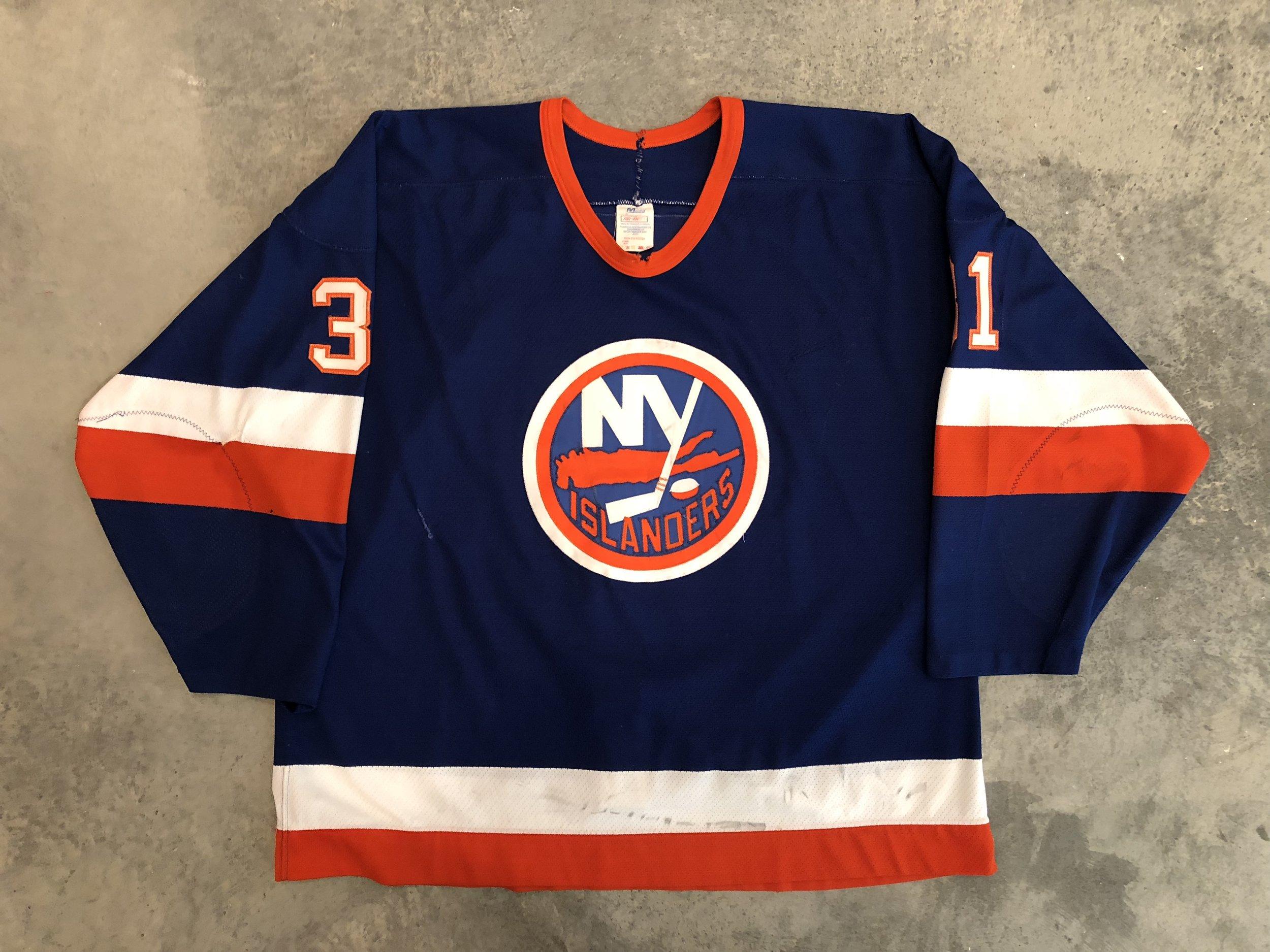 Billy Smith New York Islanders Game Worn Jersey - 1982 Vezina Winner