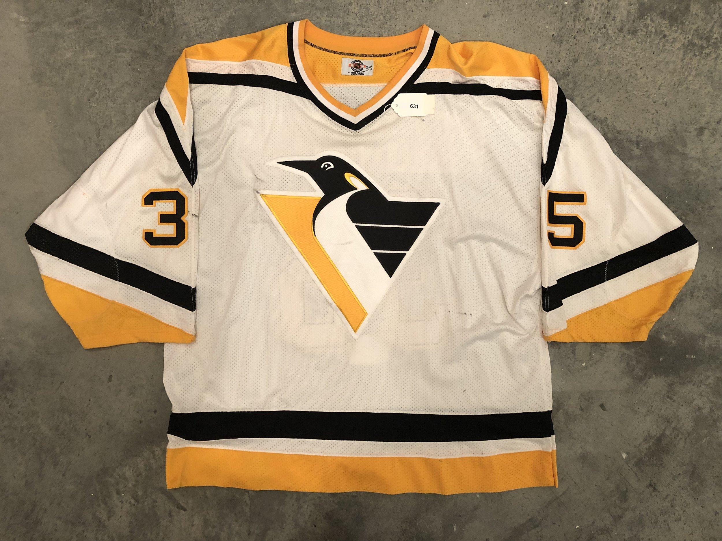 Tom Barrasso Pittsburgh Penguins Game Worn Jersey - 1984 Vezina Winner