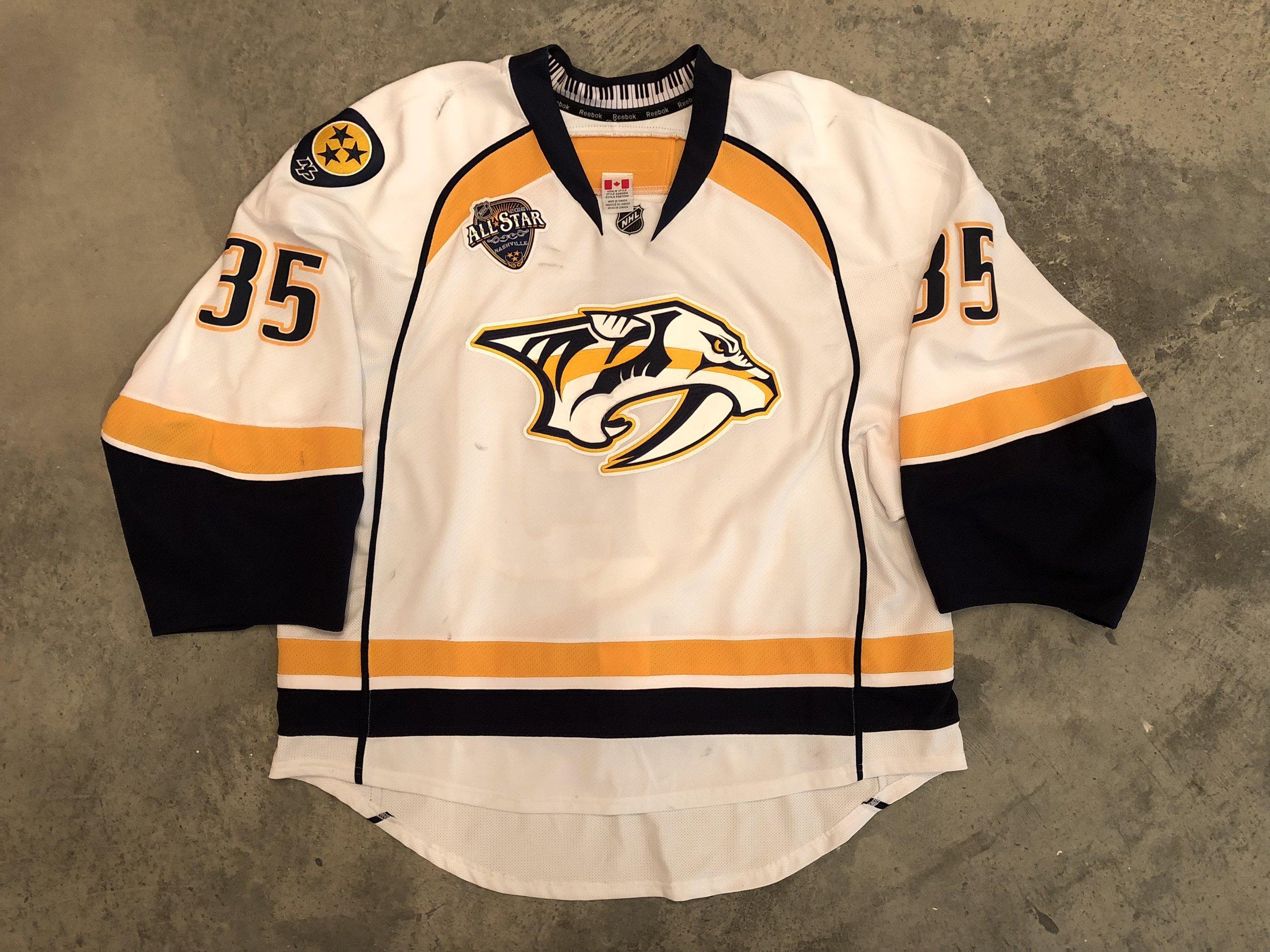 Pekka Rinne Nashville Predators Game Worn Jersey - 2018 Vezina Winner