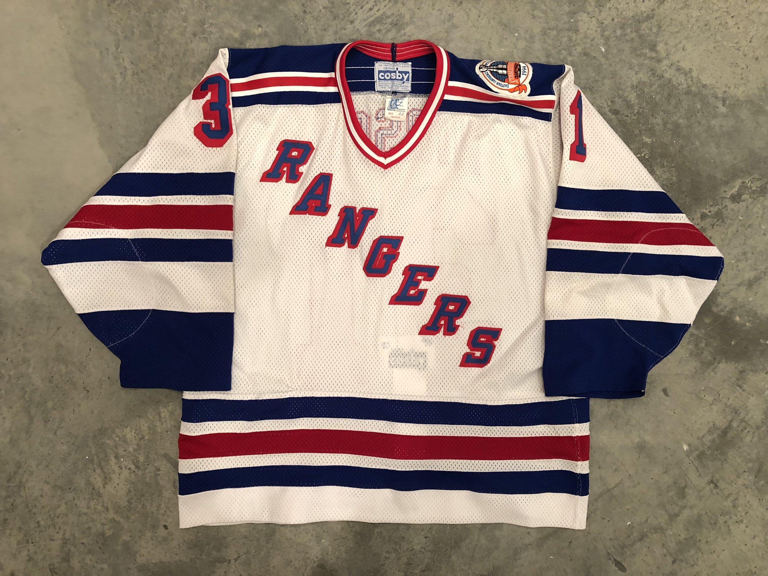 1994 New York Ranger Stanley Cup Finals Game Issued Home Jersey - Corey Hirsch