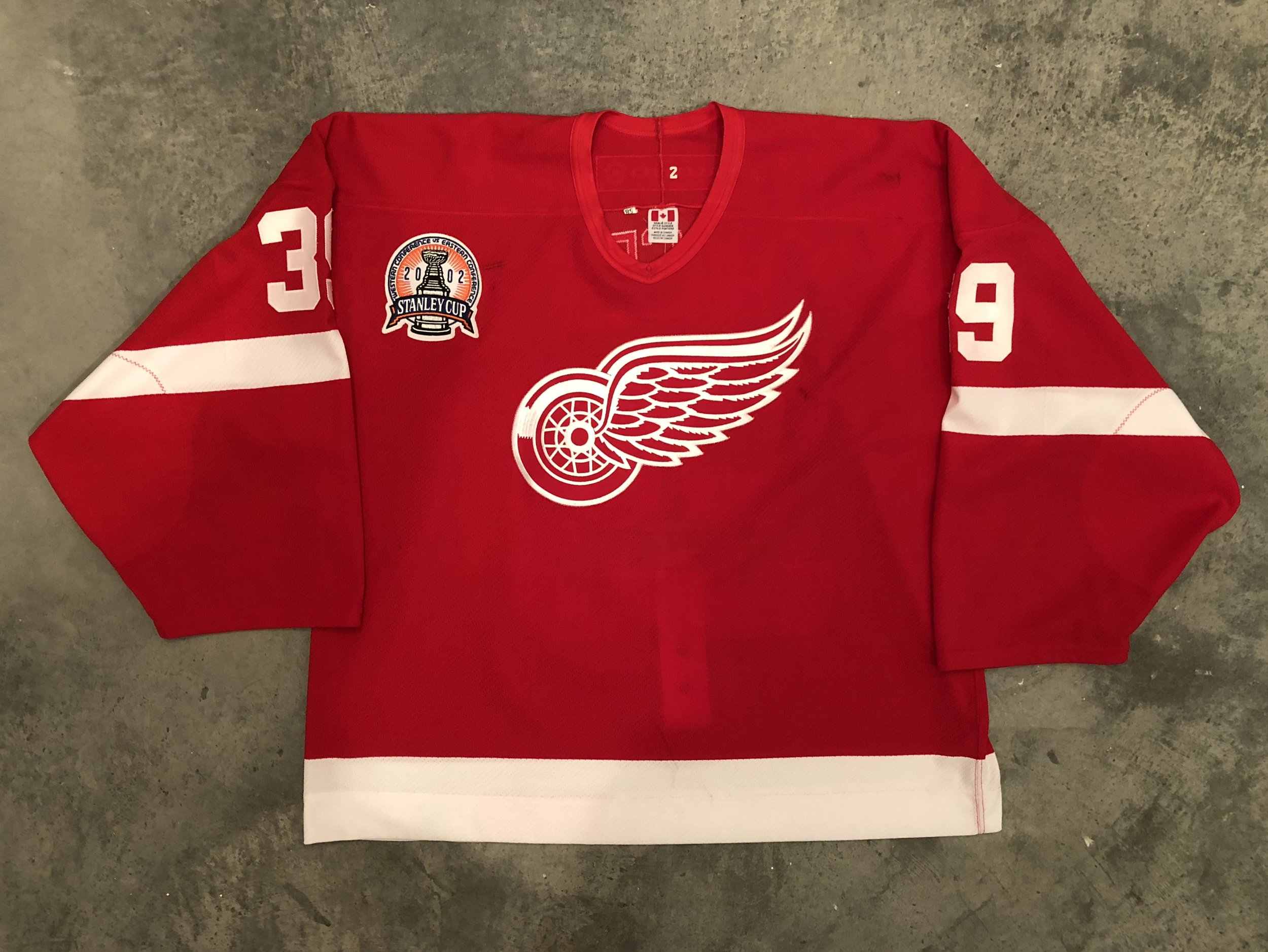 2002 Detroit Red Wings Stanley Cup Finals Game Worn Road Jersey - Dominik Hasek